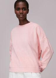 Towelling Boyfriend Sweatshirt