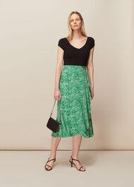 Blot Animal Frill Skirt