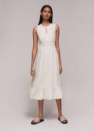 Matilda Smocked Linen Dress