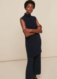 Sleeveless Tunic Knit Dress
