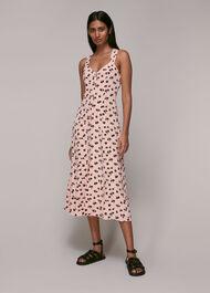Scattered Carnation Midi Dress