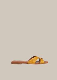Tabitha Flat Slider Yellow