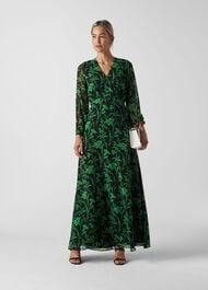 Valerie Woodland Floral Dress Green/Multi