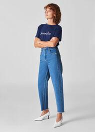Stretch Barrel Leg Jean