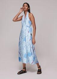 Melanie Map Silk Mix Dress