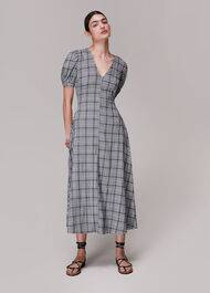 Tabitha Checked Midi Dress