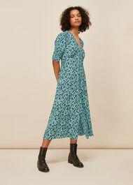Midnight Meadow Floral Dress