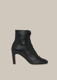 Dahlia Lace Up Boot Black
