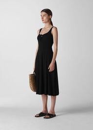 Brigitte Jersey Dress Black