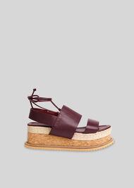 Rae Flatform Sandal Aubergine