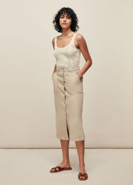 Cable Knitted Vest Ivory