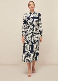 Stallion Print Silk Dress