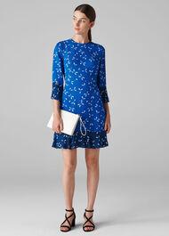 Polly Spot Print Dress Blue/Multi