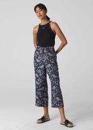 Pitti Silk Twill Trouser Multicolour