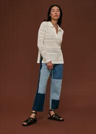 Crochet Collar Detail Top