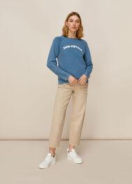 Bon Voyage Sweatshirt Pale Blue