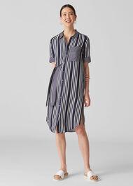 Multi Stripe Dress Navy/Multi