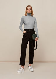 Essential Polo Neck Pale Grey