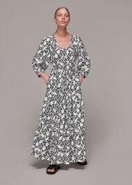 Floral Print Trapeze Dress