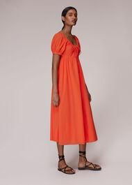 Tie Detail Elouise Midi Dress