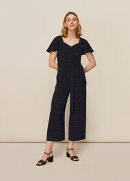 Micro Triangle Print Jumpsuit Black/Multi