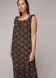 Block Print Midi Dress