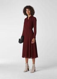 Carys Midi Shirt Dress Burgundy