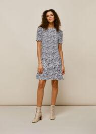Petal Print Dress Black/Multi