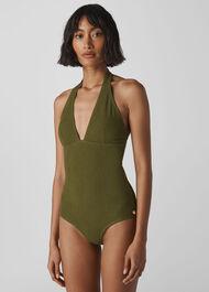 Klara Minimal Swimsuit Dark Green