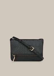 Luca Croc Foldover Bag