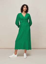 Zenna Shirred Waist Dress Green