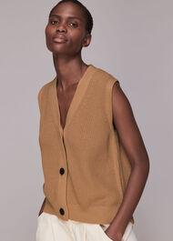 Knitted Button Up Waistcoat