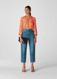 Digital Daisy Pyjama Shirt Flame/Multi