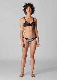 Santiago Bikini Pant Black and White