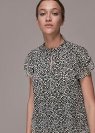 Indo Floral Print Top